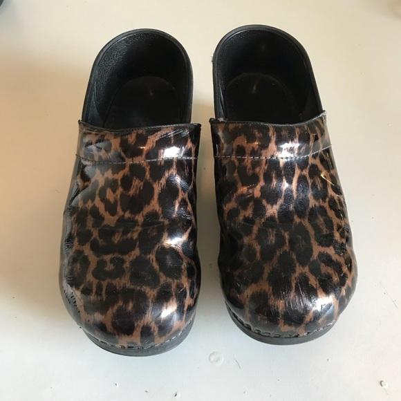 58ea2514deb1 Dansko Shoes | Dansco Leopard Cheetah Clogs Size 42 | Poshmark